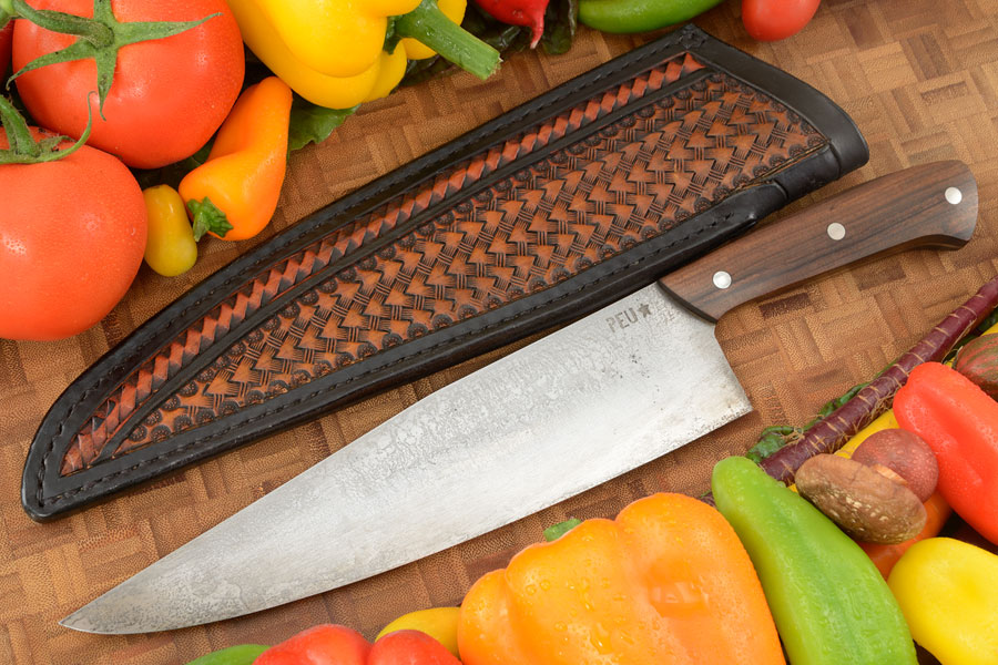 Chef's Knife (Cocinero 230mm) with Pau Ferro Wood and O2 Carbon Steel