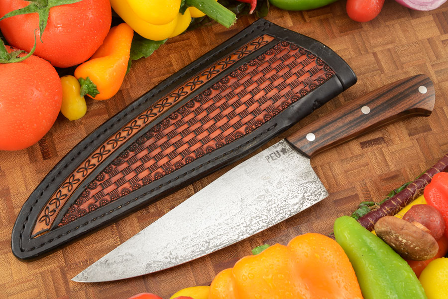 Chef's Knife (Cocinero 180mm) with Pau Ferro Wood and O2 Carbon Steel