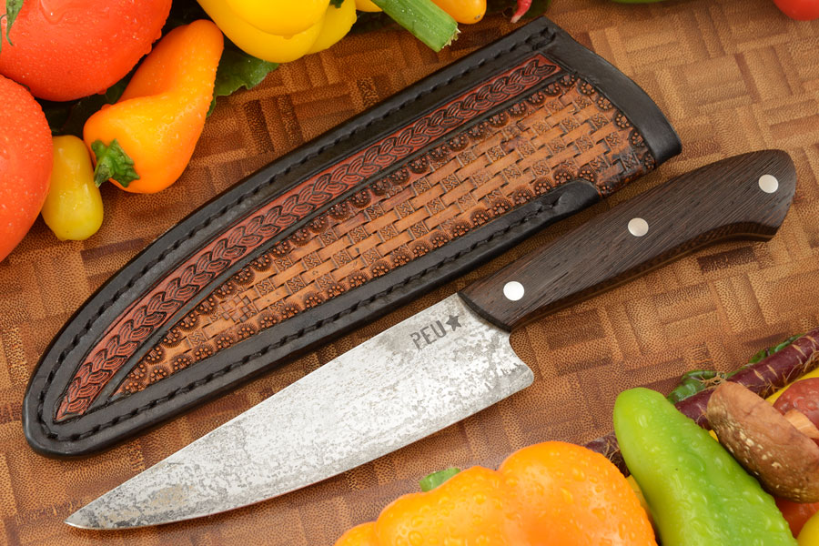 Chef's Utility Knife (Parrillero) with Wenge and O2 Carbon Steel