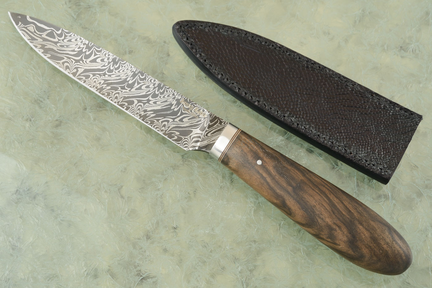 Damascus Chef's Utility with Walnut