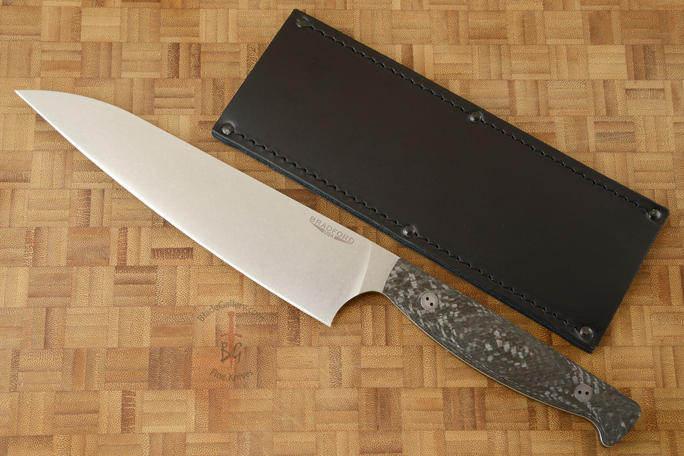 Chef's Knife with Microtextured Carbon Fiber (7-3/4 in.)