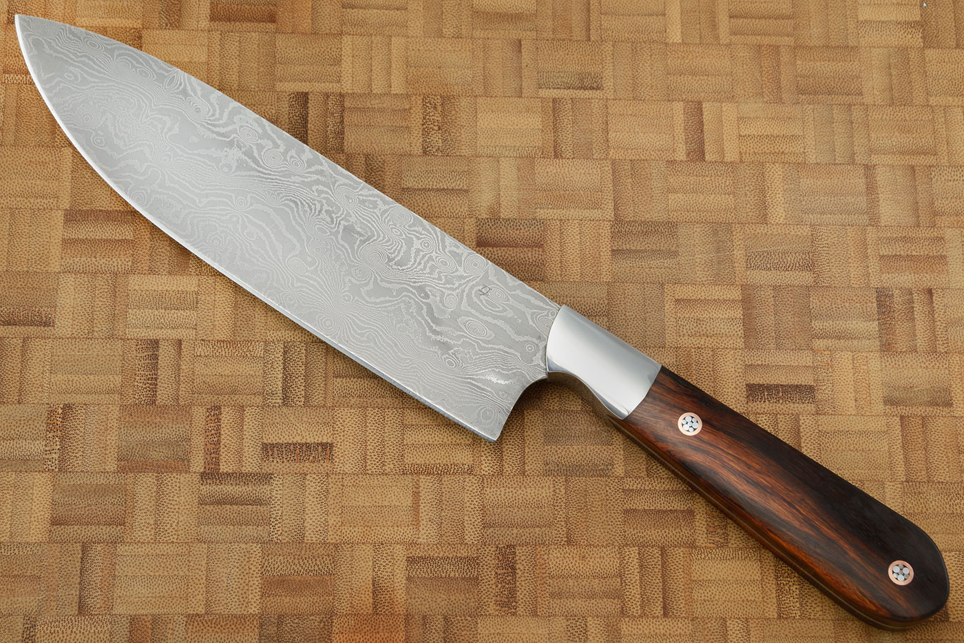 Damascus Chef's Knife (7-1/8 in) with Ironwood
