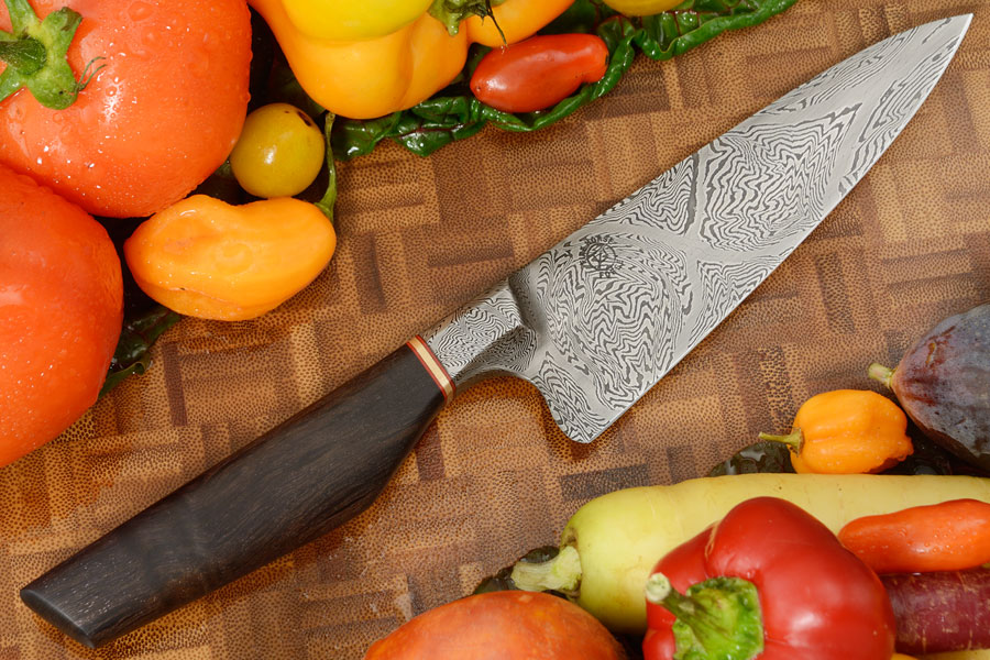Integral Damascus Chef Knife (5-1/4 in) with Beefwood