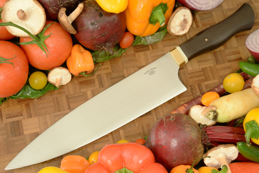 S-Grind Chef's Knife (9-1/8 in) with African Blackwood - 52100 Carbon Steel