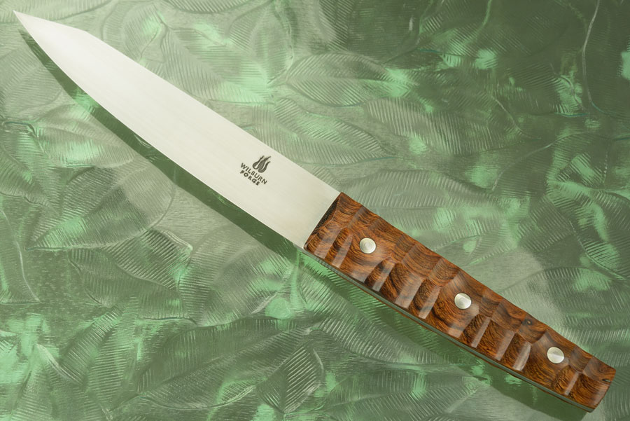 Boning Knife - Hankotsu - with Sculpted Ironwood