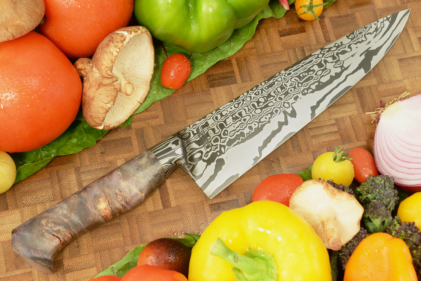 Integral Damascus Chef's Knife (8 in.) with Maple