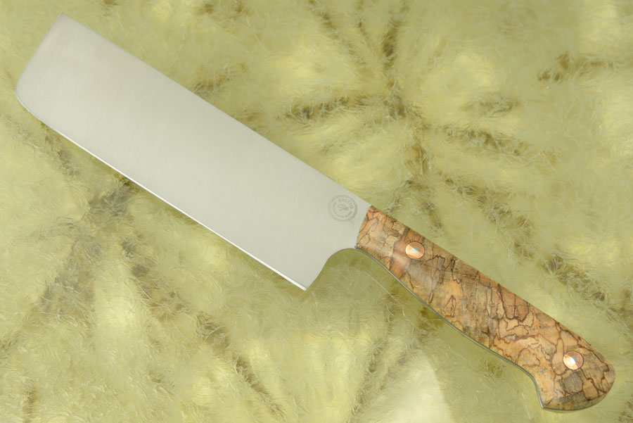 Chef's Knife - Nakiri (6-1/4 in.) with Spalted Silver Maple