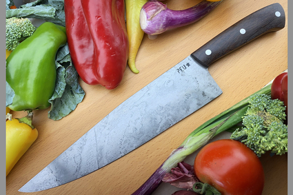 Chef's Knife (Cocinero 230mm) with Lignum Vitae and O2 Carbon Steel