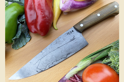 Chef's Knife (Cocinero 180mm) with Argentine Lignum Vitae and O2 Carbon Steel