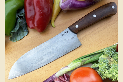 Chef's Knife (Santoku) with Urunday and O2 Carbon Steel