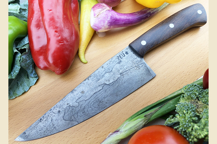 Chef's Knife (Cocinero 180mm) with Lignum Vitae and O2 Carbon Steel
