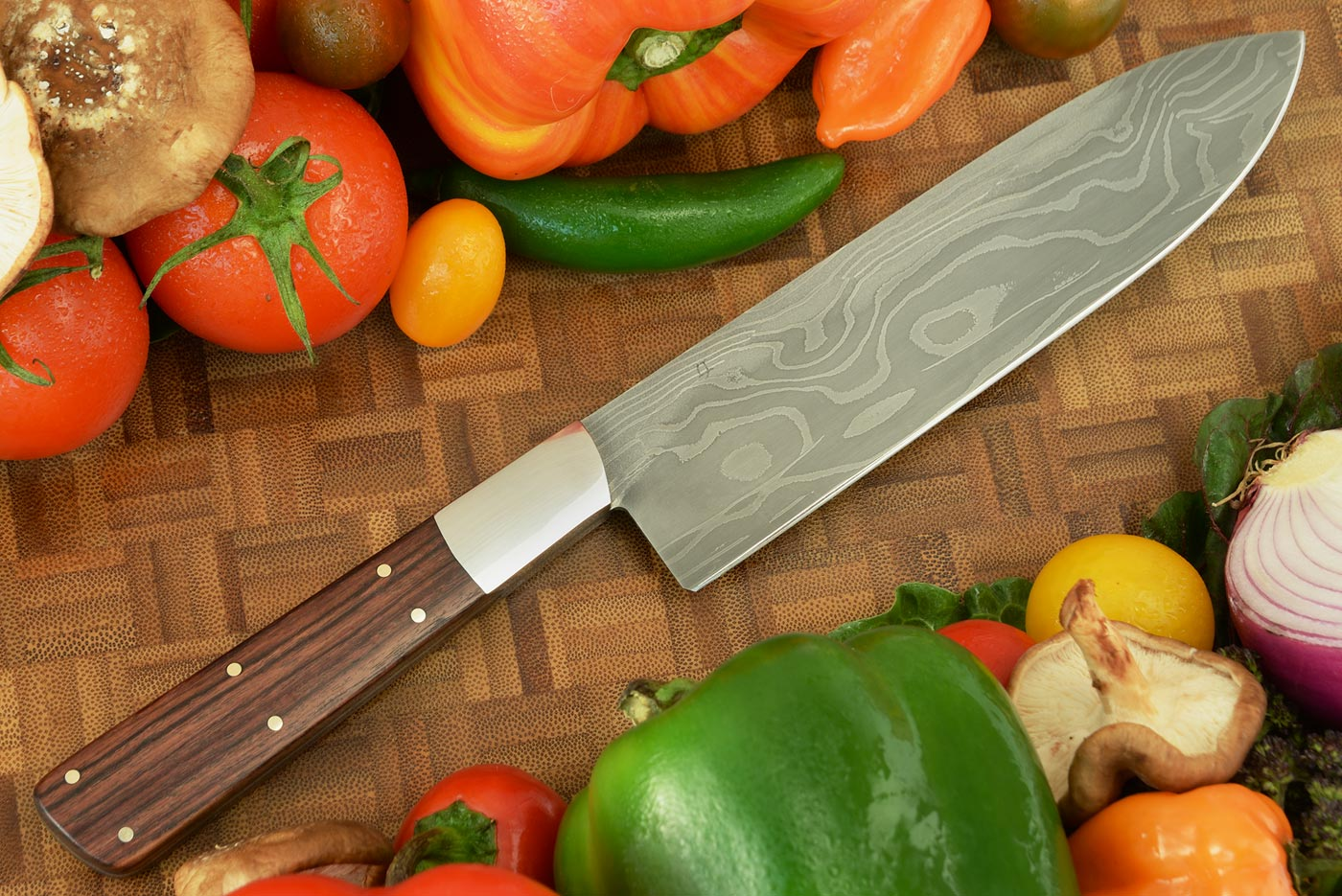 Damascus Chef's Knife (6-1/2 in.) with Kingwood
