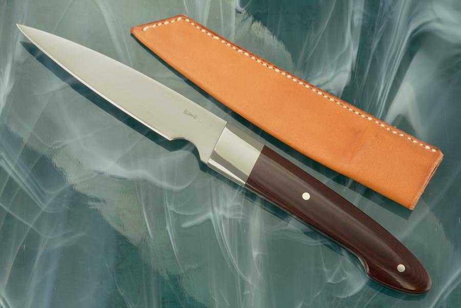 Paring Knife (4 in.) with Burgundy Micarta