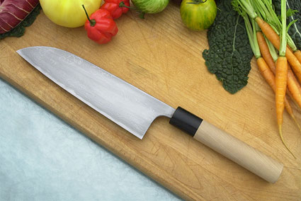 Shigefusa Chef's Knife (Santoku), Suminagashi - 180mm (7 1/8 in.)