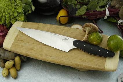 HCK Chef's Knife with Black Linen Micarta - 8 in.