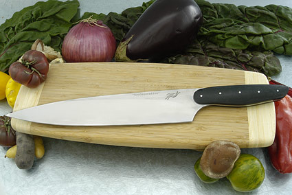 HCK Chef's Knife with Black Linen Micarta - 10 1/4 in.