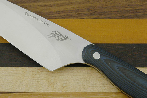 HCK Chef's Knife with Blue/Black G10 - 6 in.