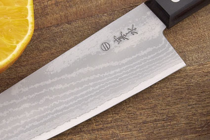 Kansui Ink Pattern Chef's Knife - Suminagashi Gyuto Hocho - 7 1/2 in.