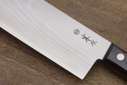 Kansui Ink Pattern  Vegetable Knife - Suminagashi Nakiri Hocho - 6 1/2 in.