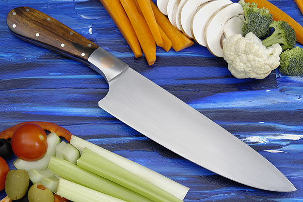Three Suns Chef Knife with Desert Ironwood