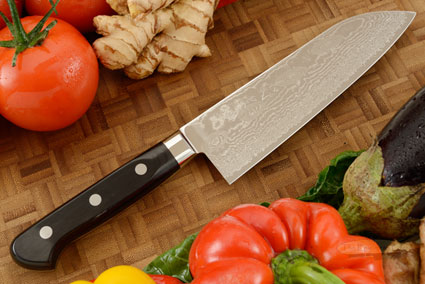 Ryusen Damascus Chef's Knife - Santoku - 7 in. (170mm)