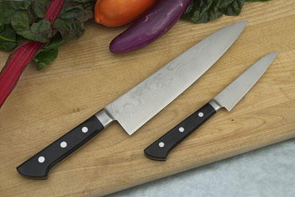 Ryusen Damascus Chef's Set: Paring (4 in.)/Gyuto (8 1/2 in.)