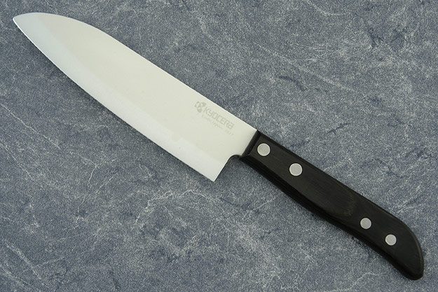 Kyocera Fine Ceramics Chef's Knife - Santoku - 5 1/2 in. (KC-80N-WH)