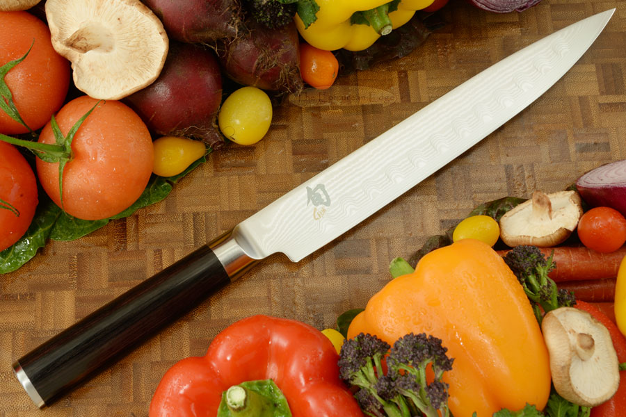 Shun Classic Slicing Knife - 9 in., Scalloped (DM0720)
