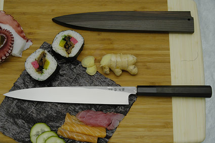 Kansui Suminagashi Right-Handed Yanagiba (Sashimi Knife) - 240mm - with saya
