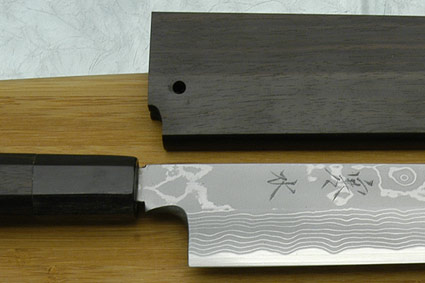 Kansui Suminagashi Right-Handed Yanagiba (Sashimi Knife) - 270mm - with saya