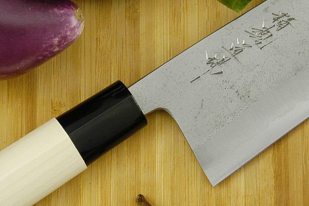 Seikon Dojo Kurouchi - Santoku with Ho Wood Handle, 7 in.