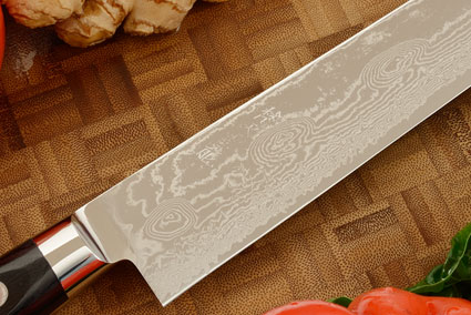 Ryusen Damascus Slicer - Sujihiki - 10-3/4 in.