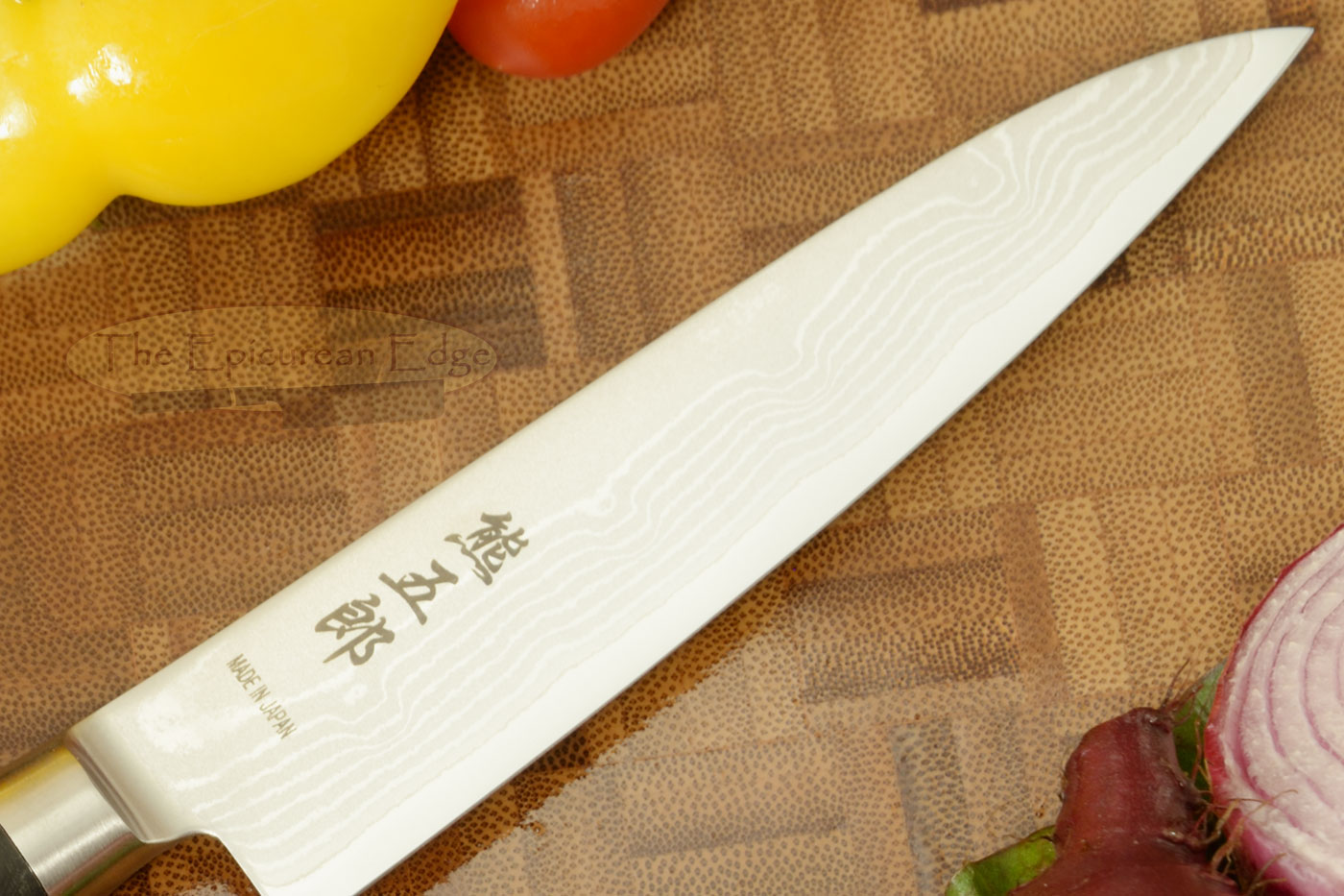 Kumagoro Suminagashi, San Mai Damascus Paring Knife - Petty Knife - 4 3/4 in. (120mm)