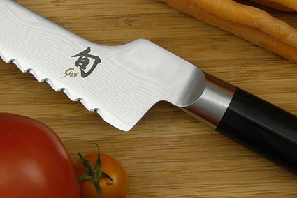 Shun Classic Bread Knife - 8 in., Offset - Left Handed (DM0724L)