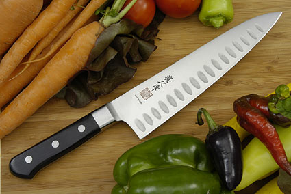 MAC Professional: Mighty Chef Knife, Granton Edge - 8 1/2 in. (MTH-80)