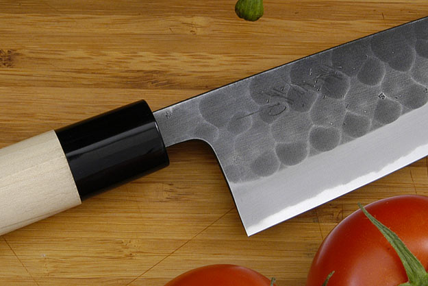 Kumagoro Hammer Finish Chef's Knife - Petit Santoku - 135mm (5 1/3 in.) - Molded Ferrule