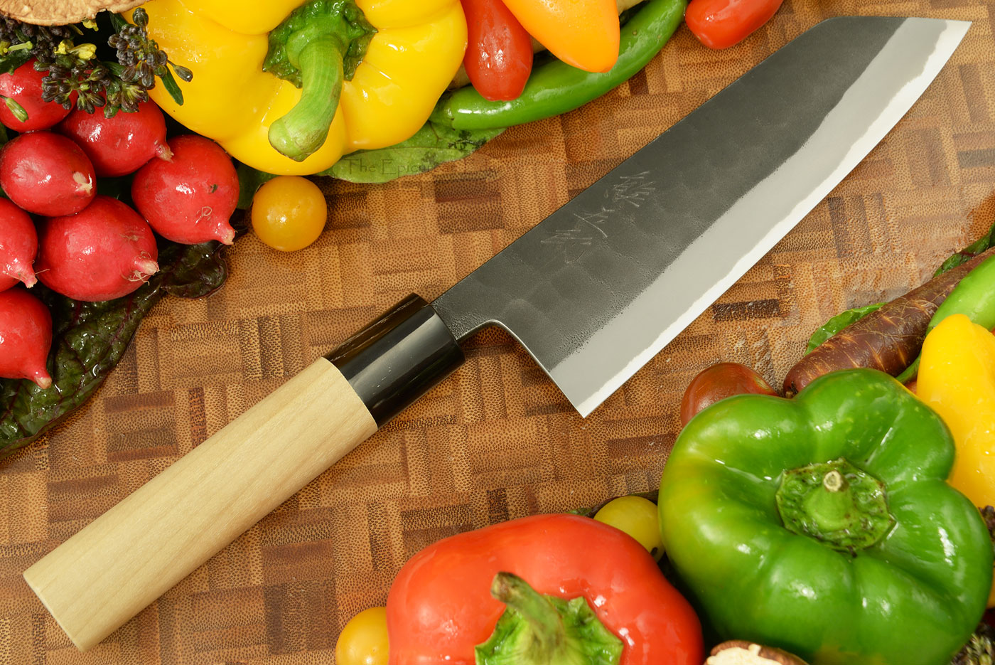 Kumagoro Hammer Finish Chef's Knife - Santoku - 165mm (6 2/3 in.)