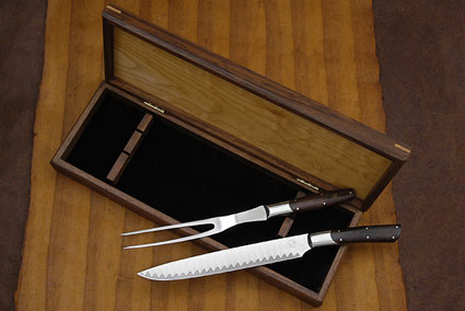 William Henry Forte Damascus Carving Set