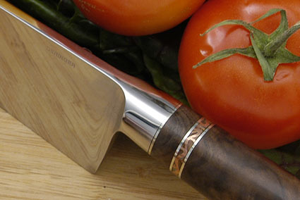 Chef's Knife (8 3/4 in.) with California Walnut<br><i>Best Culinary Implement</i>, The Collectors Show - Napa, CA 2006