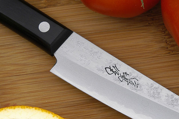 Kansui Dojo Fruit Knife - Aogami Fruit Hocho - 5 1/4 in.