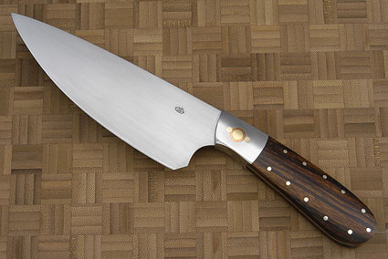 Three Suns Chef Knife with Desert Ironwood (6 in)