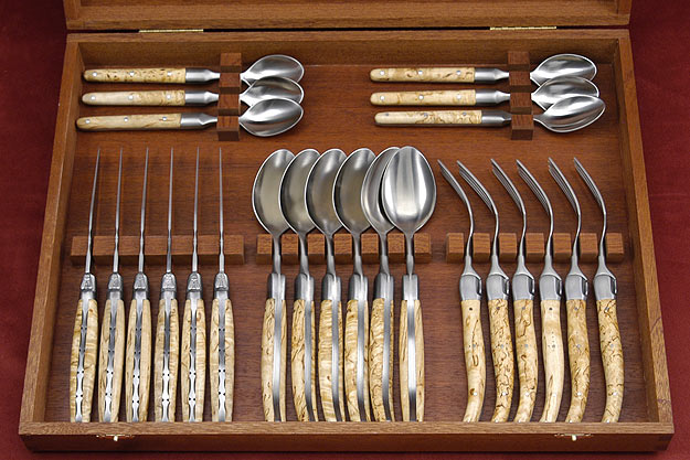 Laguiole Flatware, Masur Birch (6 place settings)