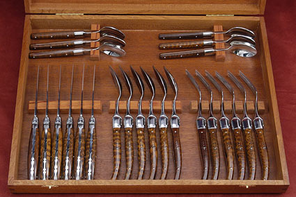 Laguiole Flatware, Amourette (6 place settings)