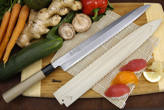 Hontan Seikon Dojo Professional Right-Handed Sashimi Hocho - 360mm with Saya