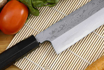 Kansui Suminagashi Right-Handed Usuba Hocho (Vegetable Knife) - 210mm