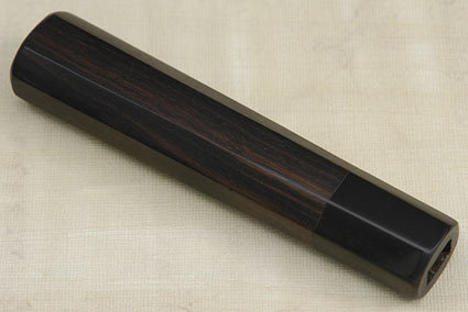 Handle (Macassar Ebony and Buffalo Horn) -- Deba 180mm