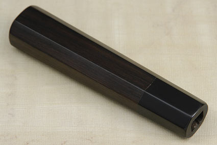 Handle (Macassar Ebony and Buffalo Horn) -- Deba 165mm