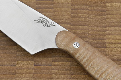 HCK Chef's Knife with Fiddle-back Maple - 6 in.