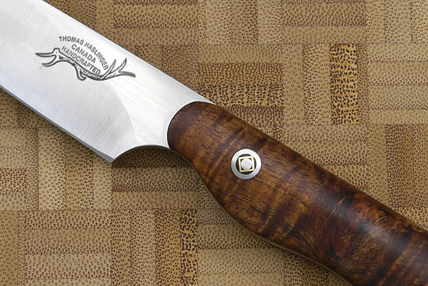 HCK Paring Knife with Curly Koa - 3 1/2 in.