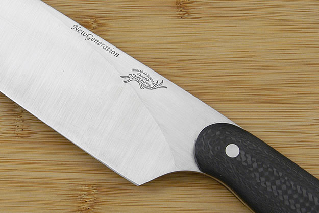 HCK Chef's Knife with Black Carbon Fiber - 10 in.